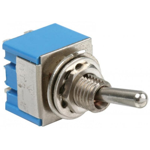 125 / 250 VAC, 3 / 6 A, 2 poles / 2 throws, 2 positions (ON-OFF) miniature toggle switch (S-119)