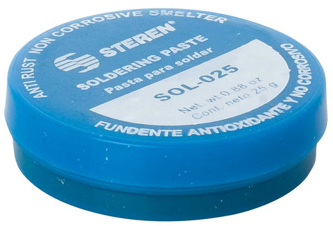 Soldering paste can with quick flux - 0.8 oz (25 g) (SOL-025)