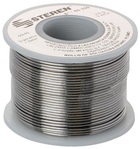 7 oz (200 g), 0.03 in (1 mm) of diameter, 60-tin / 40-lead solder spool (SOL60-200)