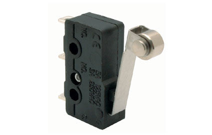 125 VAC, 5 A, micro switch with metal lever and roller (SS0505A)