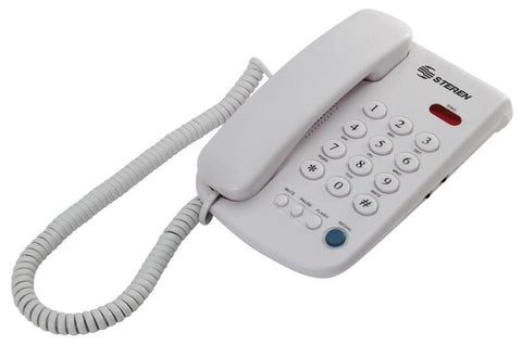 Big Button Corded Phone with Indicator Light, Redial, Volume Control, Flash, Mute & Pause (TEL-010)