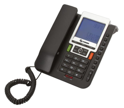 2 Line Corded Phone with Caller ID, Telephone Lock, Redial, Volume, Flash, Calculator & Pause (TEL-250)