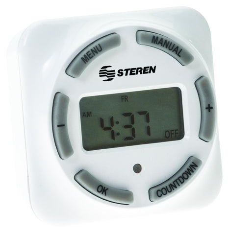 8-Event Digital Timer with Liquid Crystal Display (LCD) (TEMP-08E)
