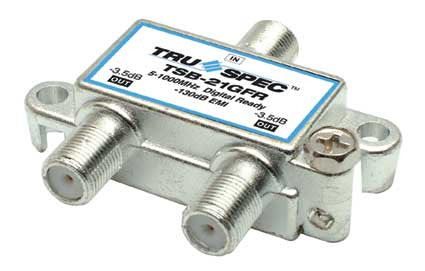 75 OHMS 1 GHZ  2 OUTPUT SPLITTER (TSB-21G)