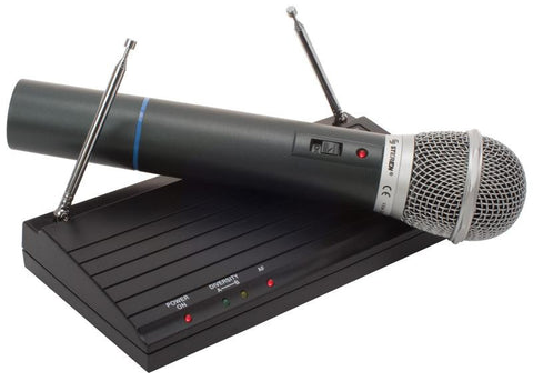 Hi-Fi Professional Wireless (VHF) Microphone System with Receiver, Operation Indicator & Volume Control (WR-102D)