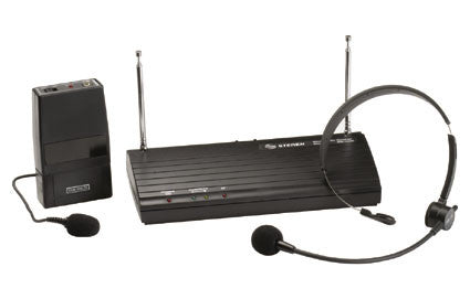 Professional Wireless (VHF) Lavalier Microphone with Headset, Receiver & Indicator (WR-102M)