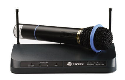 Professional Wireless (UHF) Microphone with Receiver & Volume Control (WR-802UHF)