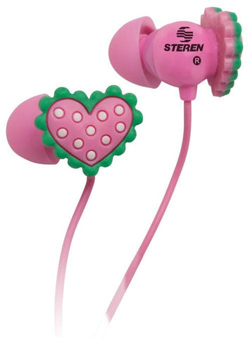 Earphones with Acoustic, Heart-Shaped Seal (AUD-241)