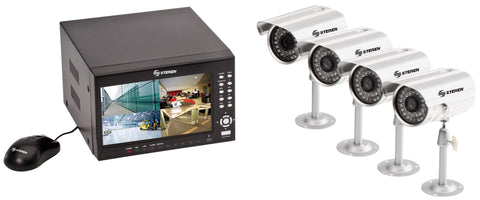 "DVR with LCD 7 ""and 4 Cameras Display, Hard Drive 500 GB  (CCTV-970)"