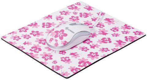 USB Mouse and Mousepad Combo - Pink Stamped (COM-533)