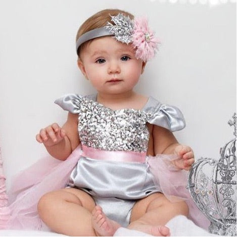 Winter Snow Princess Tutu Romper
