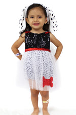 Sweet & Glam Dalmatian Sparkle Romper - Belle Threads
