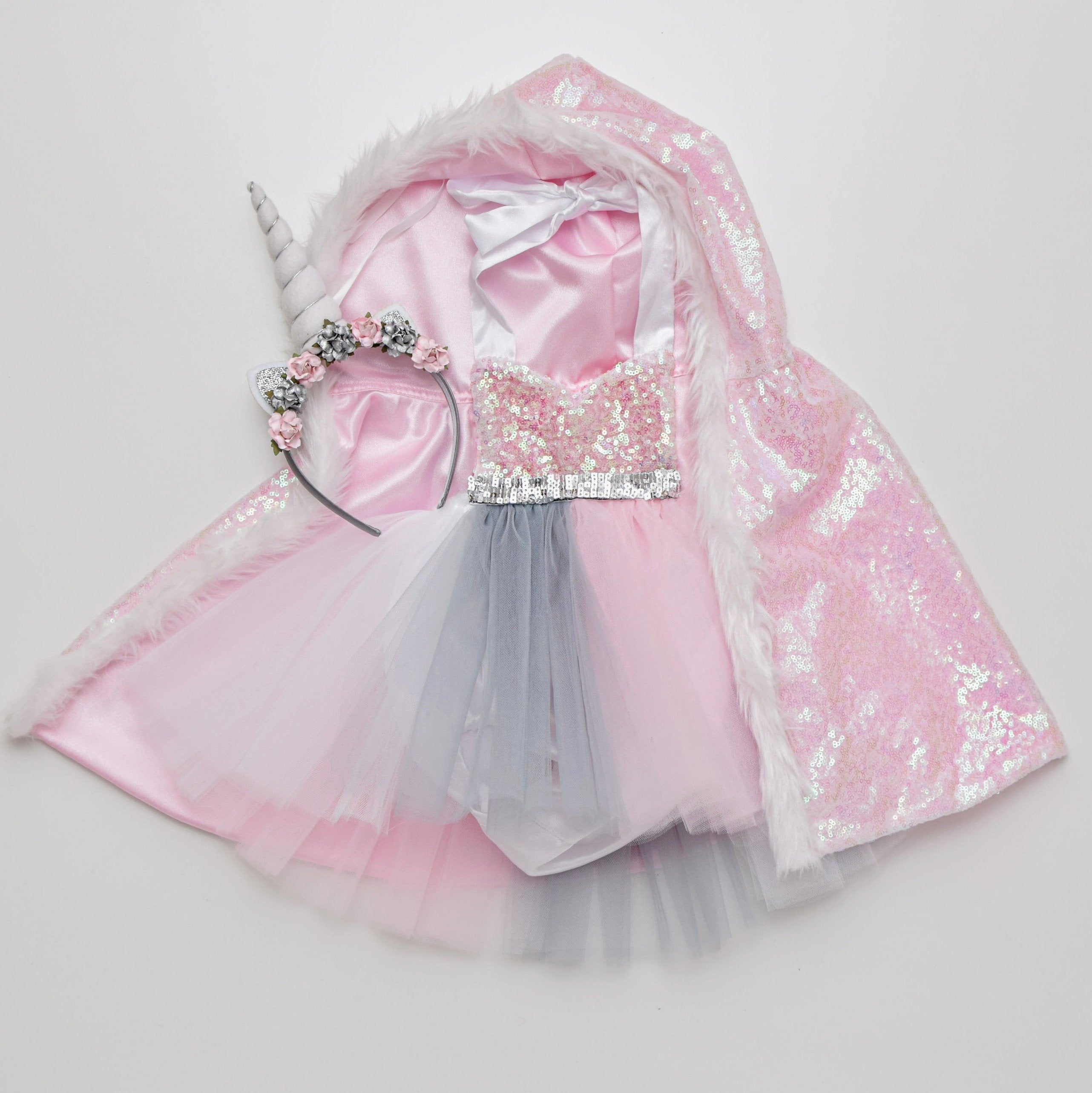 0323a7d1e5f Winter Unicorn Tutu Dress with Cape – Belle Threads