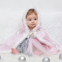 Load image into Gallery viewer, Winter Unicorn Tutu Dress with Cape