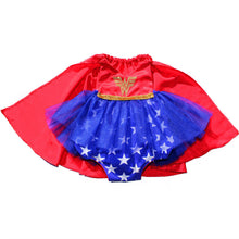 Load image into Gallery viewer, Super Hero Tutu Sparkle Romper with Cape - WW - Belle Threads