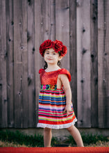 Load image into Gallery viewer, LIMITED Sparkle Romper Cinco de Mayo Fiesta Dress Mexican Fiesta Dress