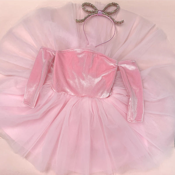 VELVET Nova Off the Shoulder Tutu Dress