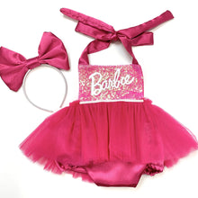 Load image into Gallery viewer, Pink Girls Tutu Romper