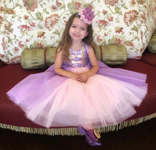 Load image into Gallery viewer, Glam Royal Sparkle Princess Pink & Purple Tutu Dress Gown