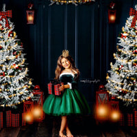 Winter Green Nova Off the Shoulder Tutu Dress Santa Nova Dress