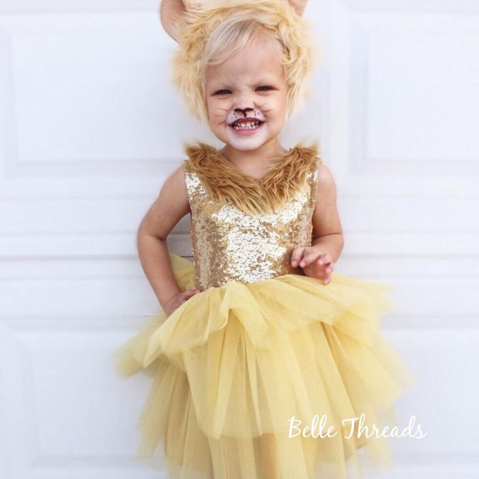 Wizard of Oz Lion  Tutu Dress Lion Costume
