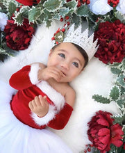 Load image into Gallery viewer, Santa Baby Nova Off the Shoulder Tutu Dress Santa Nova Dress