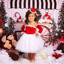 Load image into Gallery viewer, Santa baby outfit, santa dress for girls, santa tutu dress, santa outfit for girls, santa dresses, santa dress for baby girl