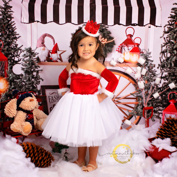 Santa Baby Nova Off the Shoulder Tutu Dress Santa Nova Dress