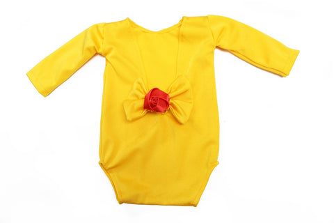 Royal Princess Leotard Collection Bow & Rose Yellow Belle Princess - Belle Threads