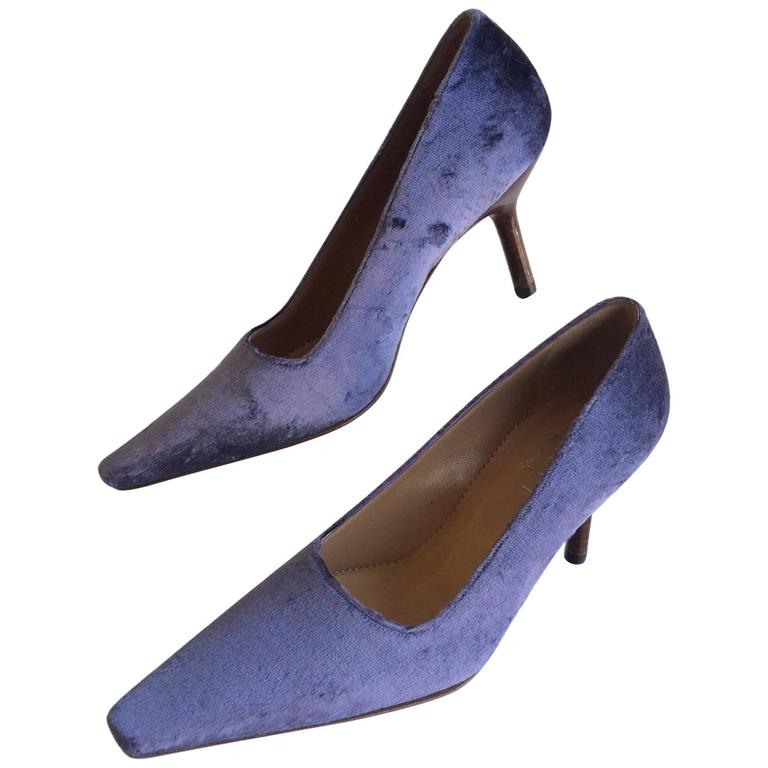 Gucci Lavender Velvet Pumps Never Worn