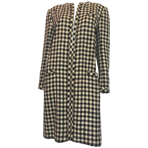 Estelle Allardale 1970's Plaid Maxi Coat