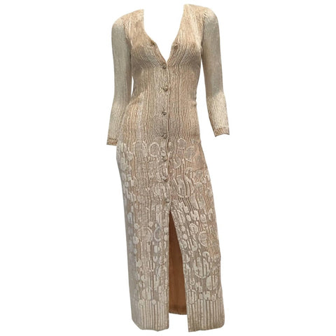 Donald Brooks 1970's Brown Poly Dress