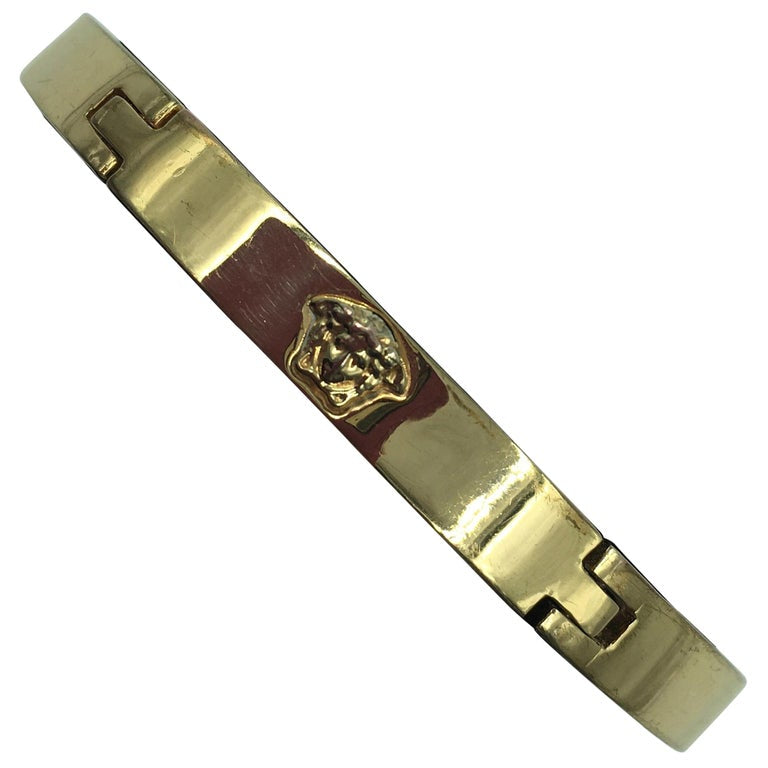 Gianni Versace Gold Plated Medusa Bangle Bracelet