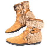 Tod's Suede Fur Boots