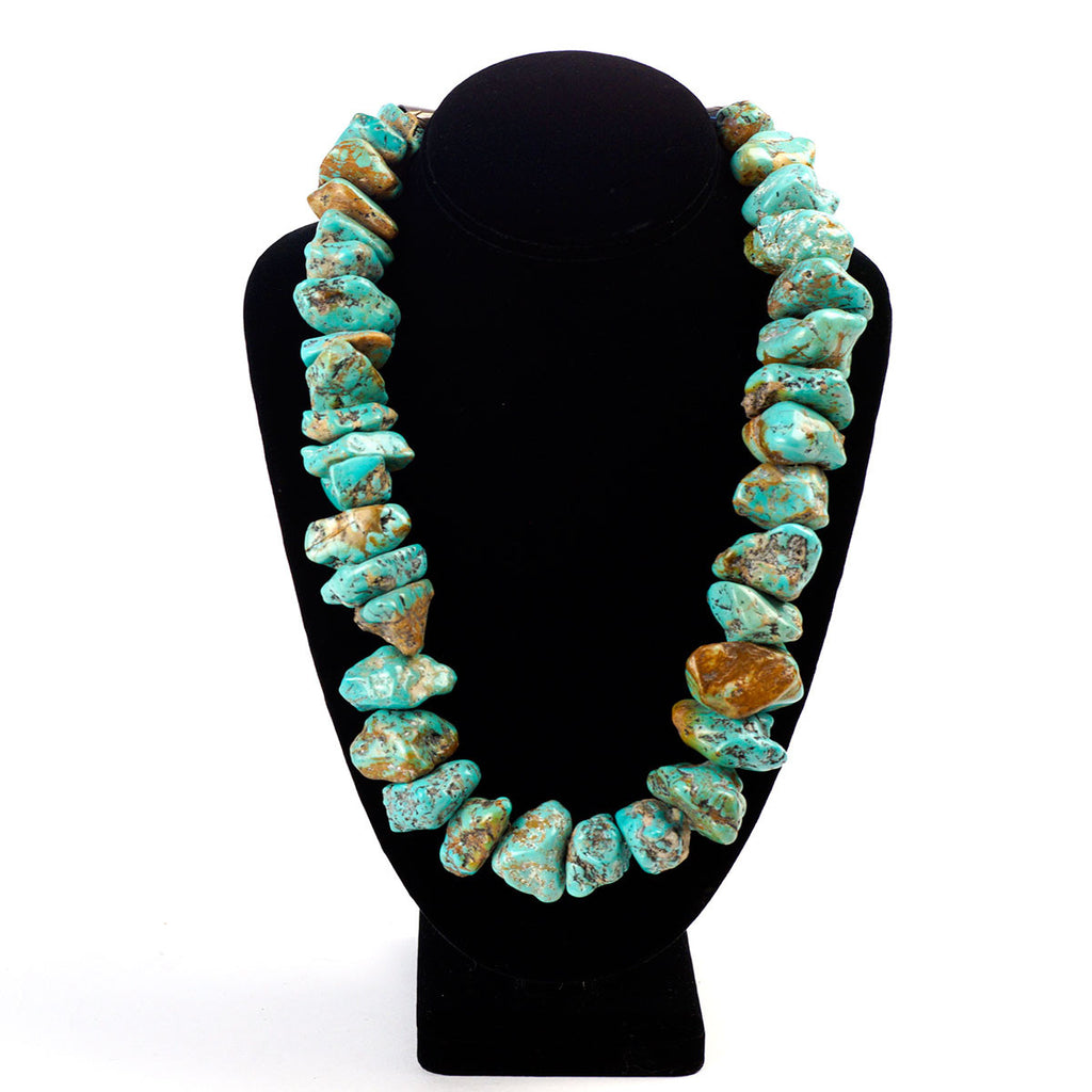Turquoise Rare Large Chunk Vintage Necklace