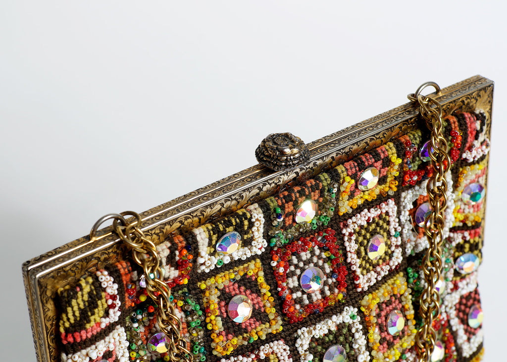 1960's Jeweled & Beaded  Bag