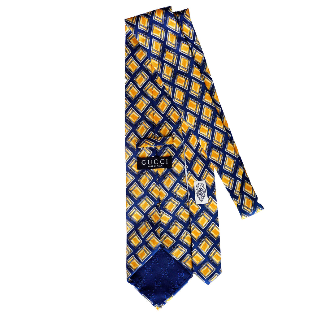 Gucci Yellow Printed Tie