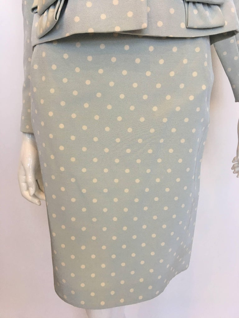 Givenchy 1990's Polka Dot Skirt Suit