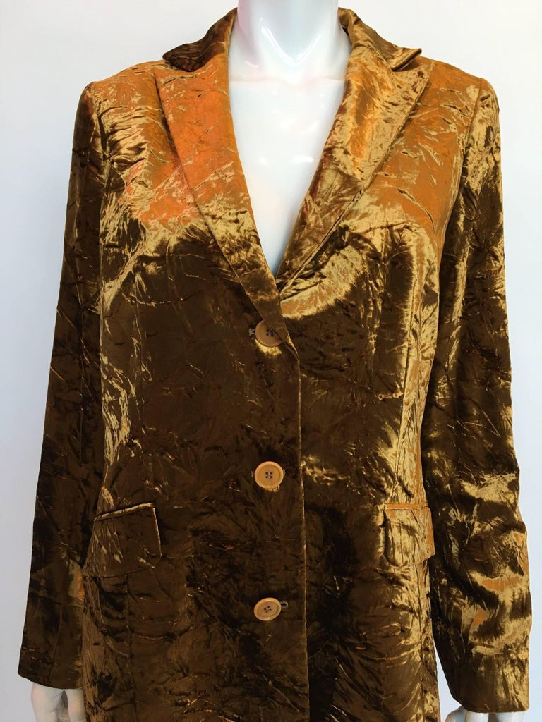 Etro Contemporary Gold Crushed Velvet Jacket