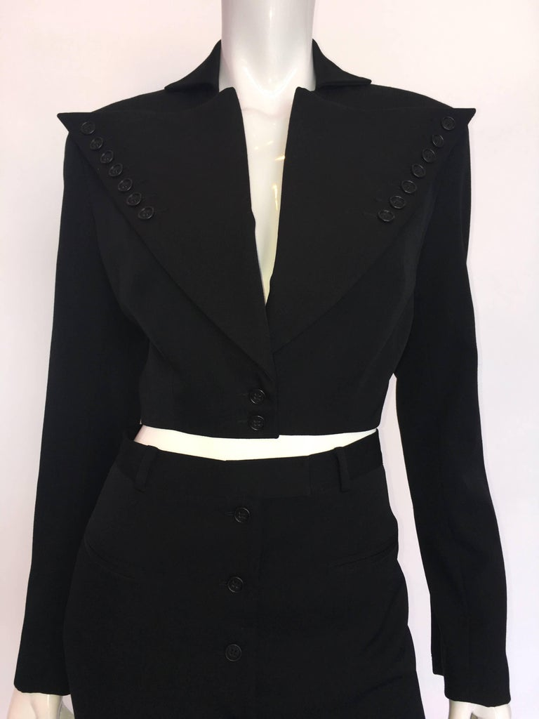 OMO by Norma Kamali 1980's Mini Skirt Suit
