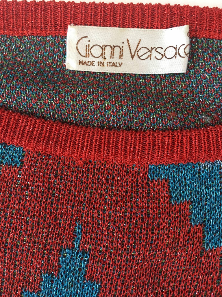 Gianni Versace 1980's Knit Sweater