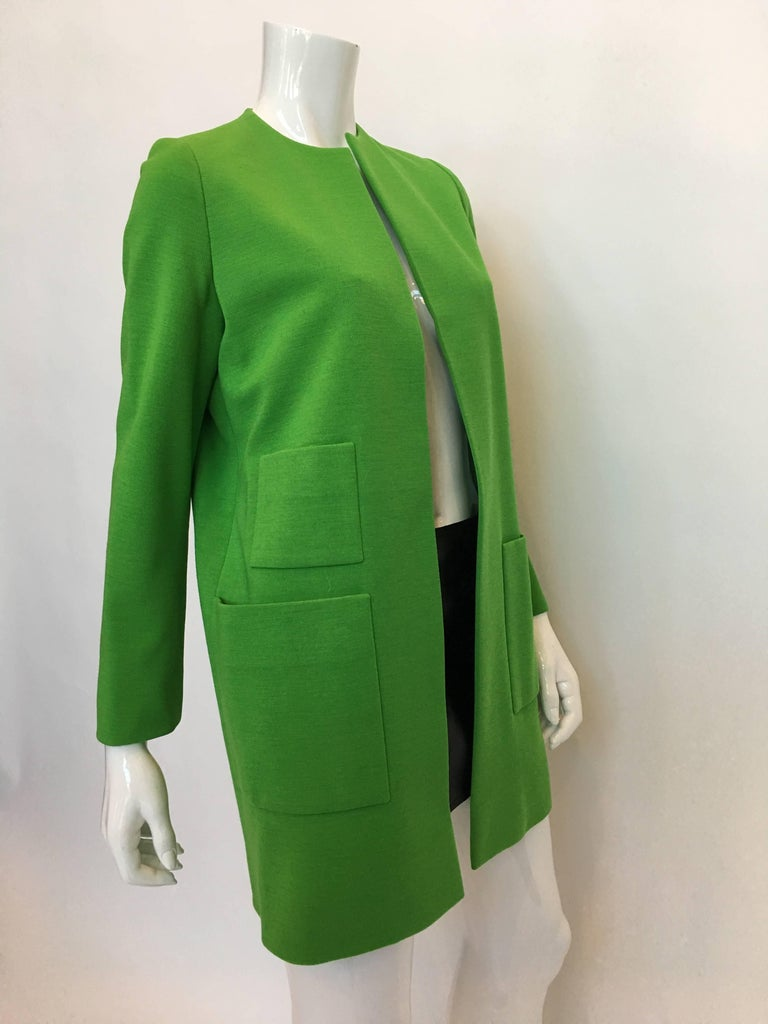 Norell Vintage 1960'S Kelly Green Coat
