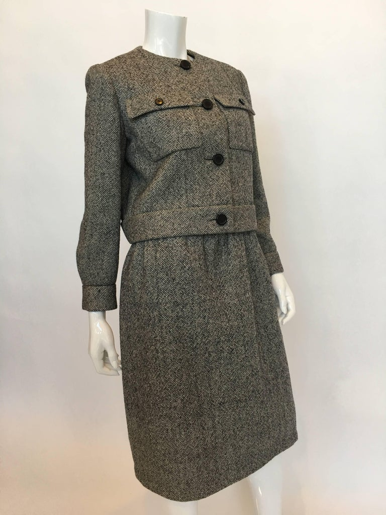 Norell Vintage 1960's Tweed Skirt Suit