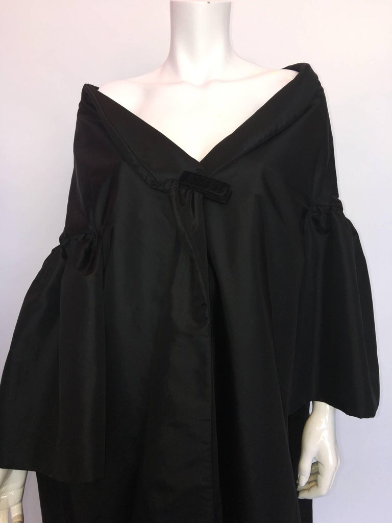 Victor Costa for Saks Fifth Ave 1980's Formal Black Opera Coat