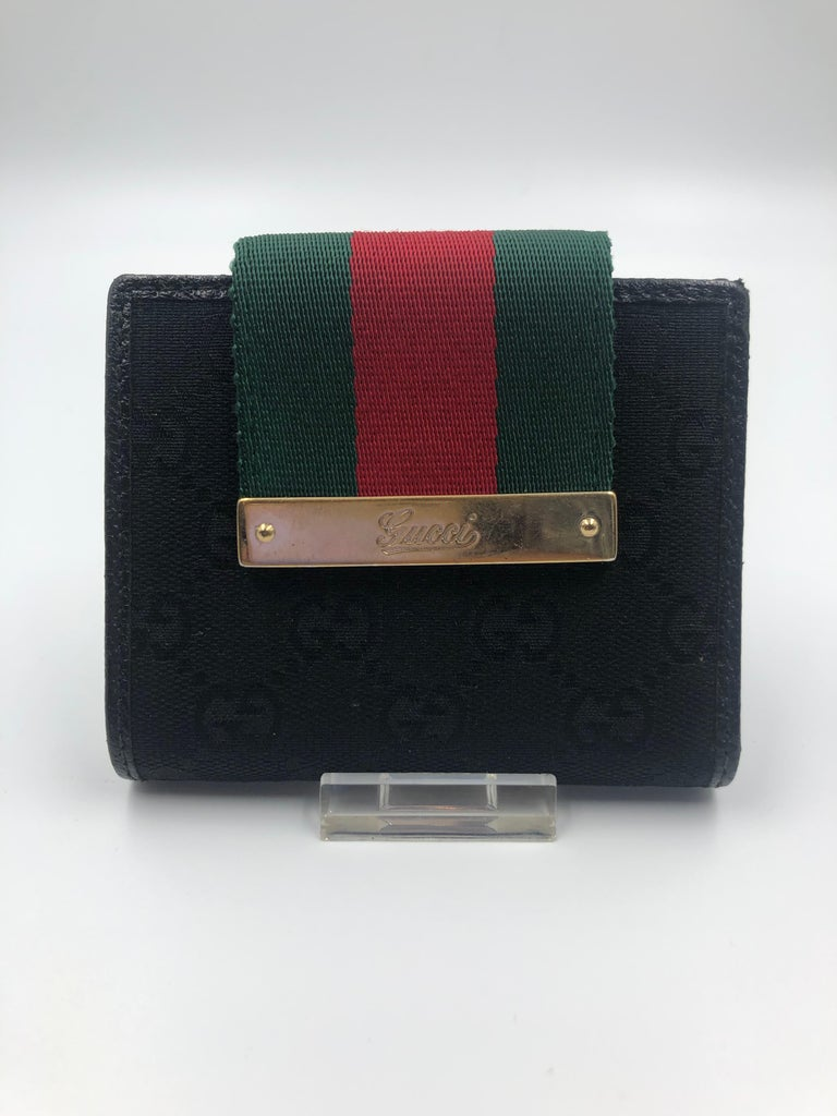 Gucci Red & Green Stripe Small Wallet