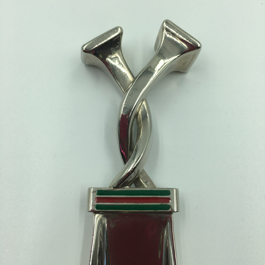 Gucci Silver with Red and Green Classic Stripe Shoehorn
