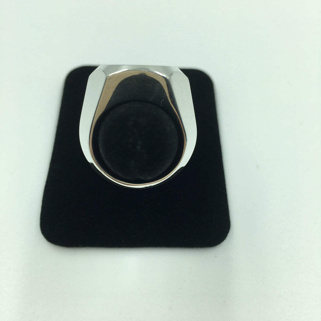 Tom Ford for Gucci Engraved Logo Sterling Silver Signet Ring