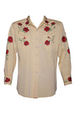 Turk the Tailor Gaberdine Shirt with Roses