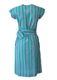 Courreges Paris Vintage Hyperbole Stripe Shift Dress with matching belt