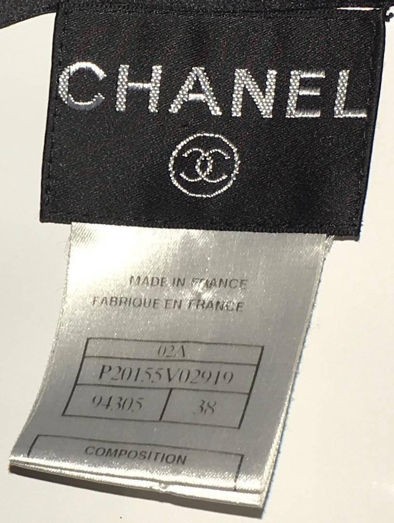 Chanel Black Silk Dress
